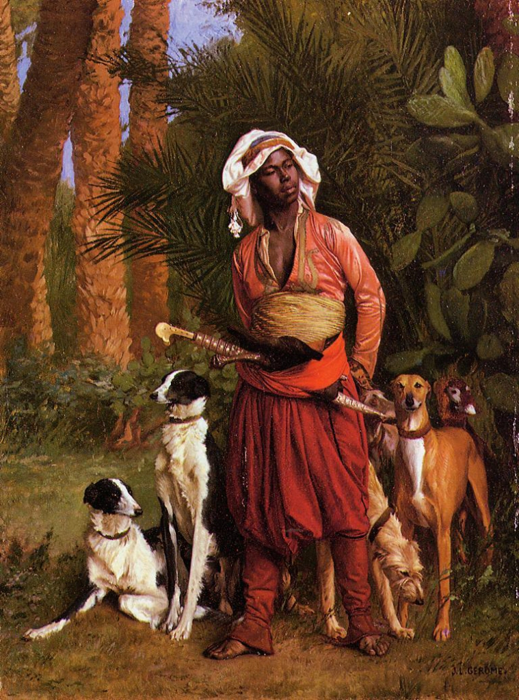 Jean-Léon Gérôme_the negro Master of the hounds