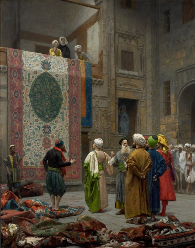 Jean-Léon Gérôme_the carpet merchant in cairo, 1887