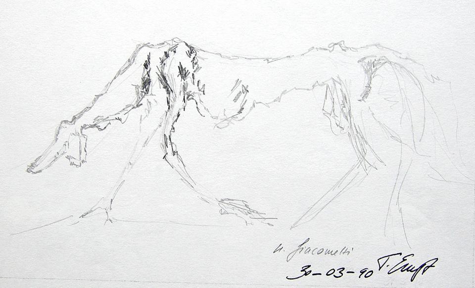 """"""" le chien"""" _ nach Giacometti"""