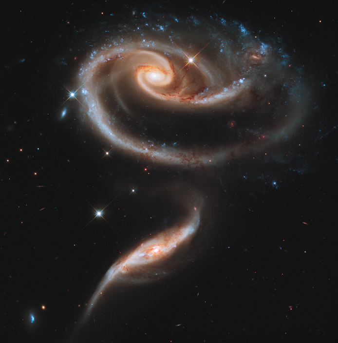 a_rose made of galaxies highlights hubble's 21st anniversary _ ⓒ NASA_ Wikimedia